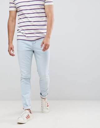 Pull&Bear slim fit jeans in light blue