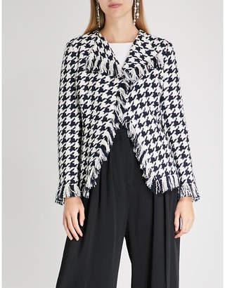 Oscar de la Renta Houndstooth wool-blend jacket