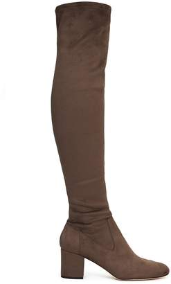 Reiss MARGI OVER-THE-KNEE SUEDE BOOTS Neutral