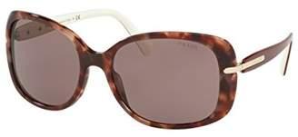 Prada PR08OS Sunglasses UE06X1-57 - Pink Havana Frame, PR08OS-UE06X1-57
