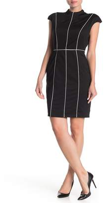 Alexia Admor Piping Cap Sleeve Sheath Dress