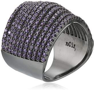 Noir Violet Pave Multi-Strand Swirl Ring