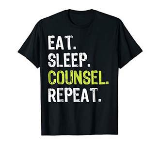 Eat Sleep Counsel Repeat T Shirt