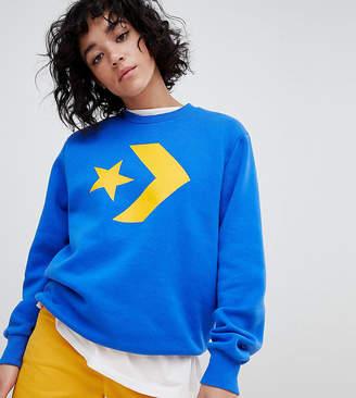 Converse Star Chevron Sweatshirt In Blue