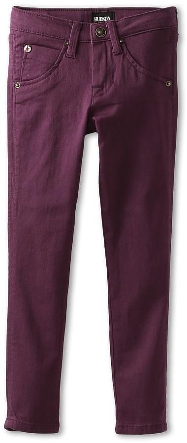 Hudson Kids - Girls' Collin Skinny With Flap Back Pocket (Infant) (Hyacinth Aubergine) - Apparel
