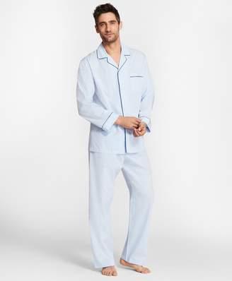 Brooks Brothers Pin-Dot Stripe Pajamas