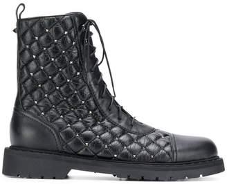 Valentino Rockstud Spike combat boots