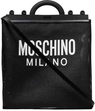 Moschino Logo mesh shoulder bag