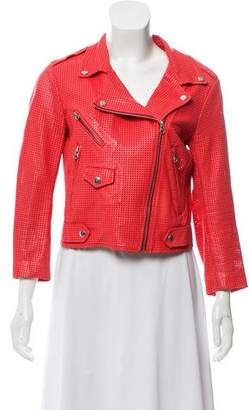 Rebecca Minkoff Leather Motto Jacket
