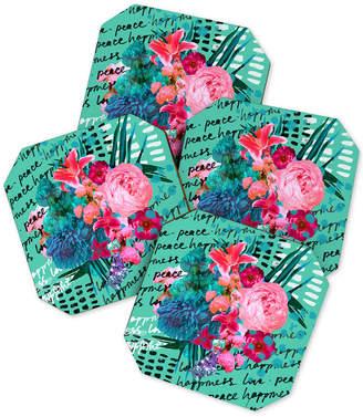 Deny Designs Biljana Kroll Love Letter Coaster Set