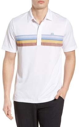 Travis Mathew 3 Wolves Stripe Polo
