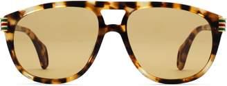Gucci Aviator sunglasses with enamel Web