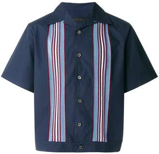 Prada textured stripe board shirt