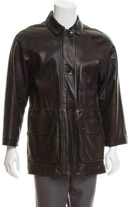 Loro Piana Cashmere-Lined Leather Coat