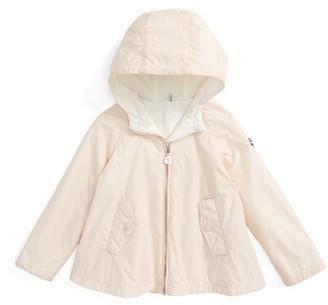 Toddler Girl's Moncler Bluma Hooded Water Resistant Windbreaker Swing Jacket $190 thestylecure.com