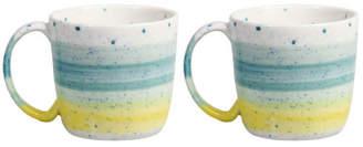 K Levering Sale - Brush Mugs - Set of 2 - Klevering