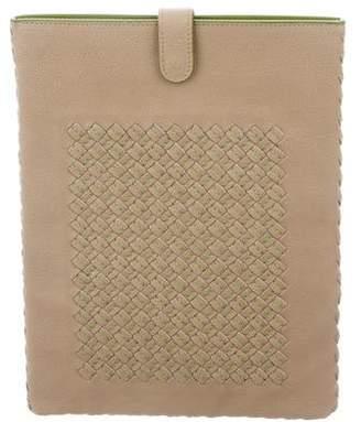 Bottega Veneta Intrecciato-Paneled Leather iPad Case