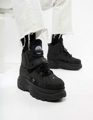 Buffalo David Bitton Classic hi top chunky sole sneakers in black