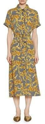 Walter Baker Printed Tie Waist Maxi Dress