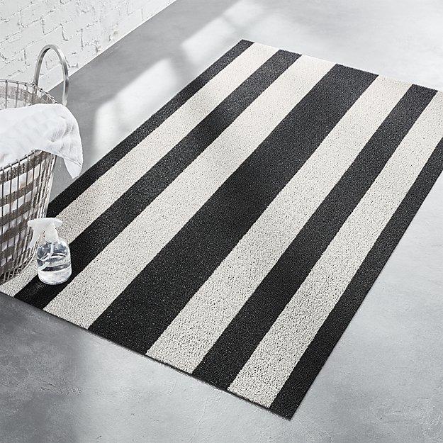 CB2Chilewich ® Black And White Mat