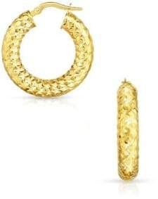 Thick 14K Yellow Gold Hoop Earrings