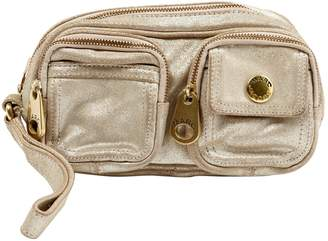 Marc Jacobs Gold Suede Clutch bags