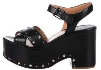 Laurence Dacade Studded Leather Platform Sandals