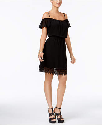 Thalia Sodi Lace Off-The-Shoulder Blouson Dress, Created for Macy's $89.50 thestylecure.com