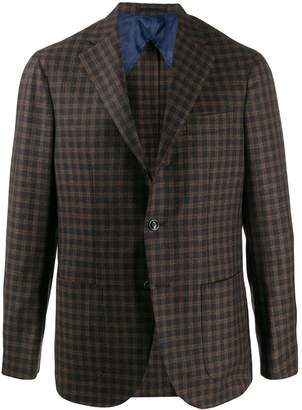 Barba fitted check blazer