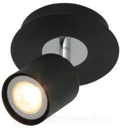 Trendige LED-Deckenlampe Scoop schwarz 1-flg.