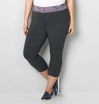 Avenue Spacedye Waistband Active Capri