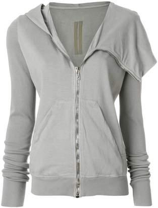 Rick Owens zipped asymmetric jacket