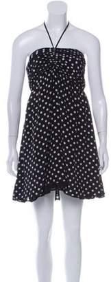 Alice + Olivia SIlk Halter Dress Black SIlk Halter Dress