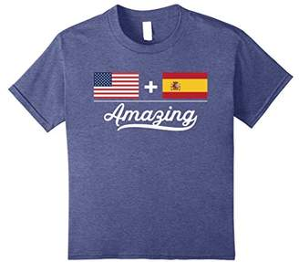 American + Spanish = Amazing Flag T-Shirt USA and Spain Flag