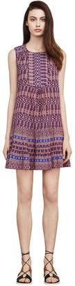 BCBGMAXAZRIA Yulissa Mosaic-Print Dress