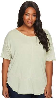 Jag Jeans Plus Size Cafe Burnout Jersey Tee Women's T Shirt