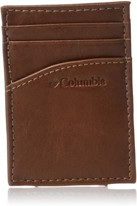 Columbia Men's Leather Magnetic Money Clip Minamalist Slim Card Case Wallet