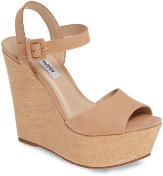 3729f2f9866 Steve Madden Brown Platform Wedge Women s Sandals - ShopStyle