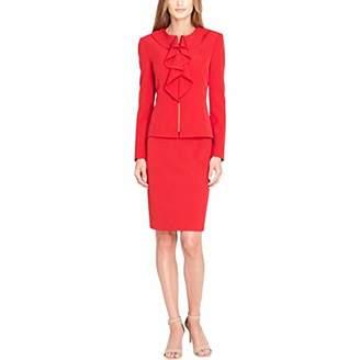 1c67d0f282d Tahari by Arthur S. Levine Women s Petite Size Ruffle Front Zip Skirt Suit