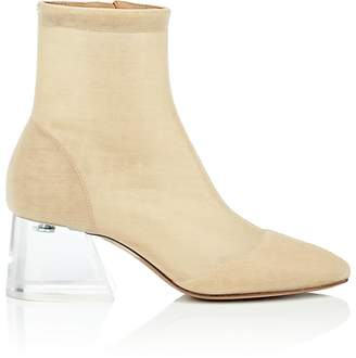 Maison Margiela Women's Angled-Heel Tech-Fabric Ankle Boots