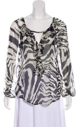 Fifteen-Twenty Fifteen Twenty Silk Printed Blouse
