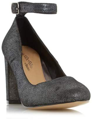 Head Over Heels by Dune - Silver 'Ariana' Ankle Strap Court Shoe