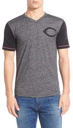 Red Jacket 'Cincinnati Reds - Onyx' Trim Fit V-Neck T-Shirt