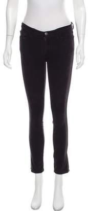 J Brand Mid-Rise Corduroy Skinny Pants