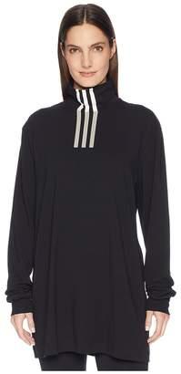 Yohji Yamamoto 3 Stripe High Neck Long Sleeve Tee T Shirt