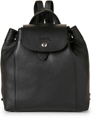 Longchamp Black Le Pliage Cuir Backpack