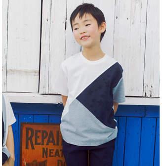 THE SHOP TK (ザ ショップ ティーケー) - THE SHOP TK(Kids) 【150cmまで】星パイル切替Tシャツ