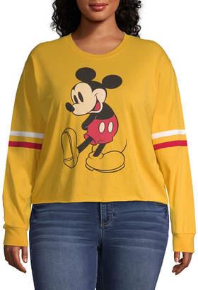 MAD ENGINE Mickey Mouse Varsity Tee - Juniors Plus