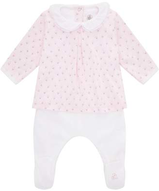 Petit Bateau Floral Print Layered All-In-One