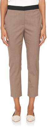 Rosetta Getty Cropped Houndstooth Trouser